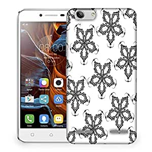 Snoogg Grey Floral Flower Designer Protective Phone Back Case Cover For Lenovo K5 Vibe