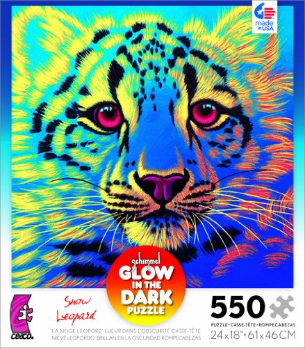 Schimmel Glow in The Dark Snow Leopard 550 Piece Jigsaw Puzzle