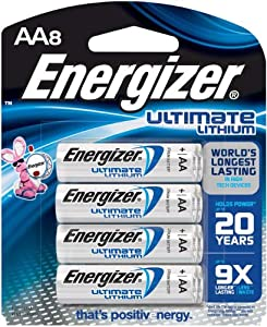 Energizer L91BP-8 Ultimate Lithium AA Battery (8-Count)
