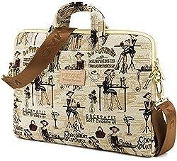 Kinmac Laptop Shoulder Bag for 13 Inch Laptop and Macbook Air 13 Macbook Pro 13 Case (Chocolatier Confiseur Lady Briefcase with strap, 13 inch/13.3 inch/macbook pro 13/macbook air 13)