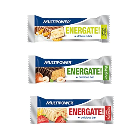 Multipower Energate, Protein- / Eiweiß-Riegel ( 30 x 35g) BIG BOX, Haselnuss