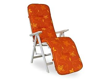 Angerer 1025077 Korfu Coussin Pour Fauteuil De Relaxation Orange