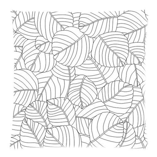 """Simple Lines Trees Leaves Custom Zippered Pillow Cushion Case Throw Pillow Covers 20""""X20""""(Two Sides) Fabric Cotton And Polyester front-964975"""