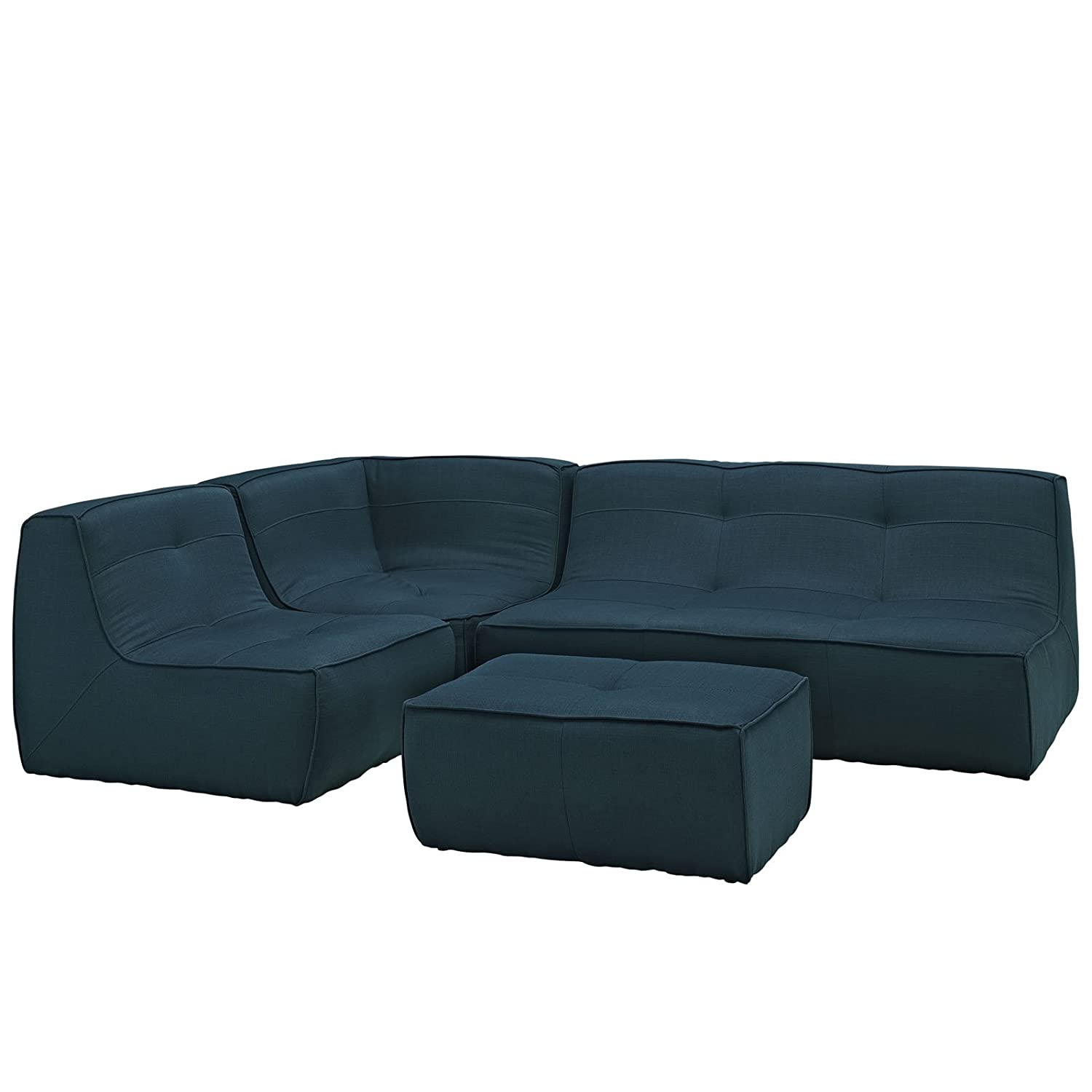 Align 4 Piece Upholstered Sectional Sofa - Azure + FREE Ebook for Modern Home Design Inspirations