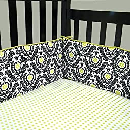 Trend Lab Waverly Rise and Shine Crib Bumpers, Black/White