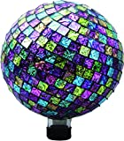 VERY COOL STUFF GLMPPG10 EMBOSSED GLASS GAZING GLOBE PINK/PRPL/GREEN 10 INCH