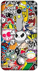 The Racoon Lean printed designer hard back mobile phone case cover for Motorola Moto X Play. (Sticker Bo)