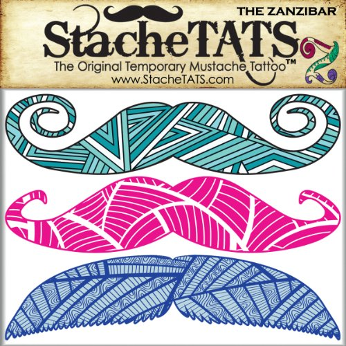 StacheTATS The Zanzibar Temporary Mustache Tattoo - 1