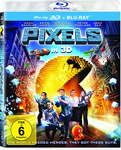 Pixels (3D Version (2 Disc) ) [3D Blu-ray]