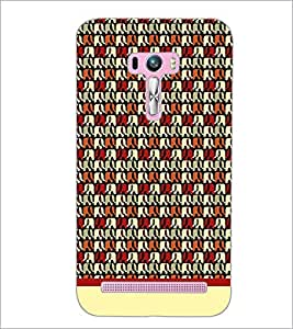 PrintDhaba Elephant Pattern D-1906 Back Case Cover for ASUS ZENFONE SELFIE ZD551KL (Multi-Coloured)