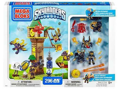 Mega Bloks Skylanders Tower of Time Building Set with Legendary Figures (95356)