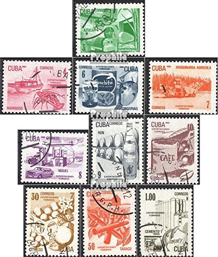 Kuba 2633-2642 (kompl.Ausg.) gestempelt 1982 Freimarken: Exportgüter (Briefmarken für Sammler)