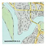Mapkin, 5x5, Package of 20 Napkins, Washington DC