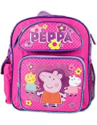 12 Peppa Pig Pink Backpack 3 Characters On The Front