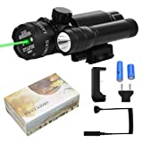 Fyland Green Laser Sight/LED Strob Flashlight Combo with Bulit-in Mount + Charger