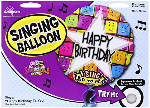 "Anagram International 1264501 Happy Birthday Faces S-A-T Balloon, 28"" - 1"