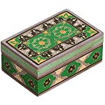 "SouvNear 7"" Wooden Jewelry Box – Handmade / Hand-Painted Treasure Chest / Decorative Box – Multicolor / Keepsake / Trinket / Storage Box - Gifts for Her"