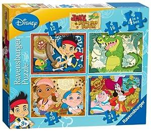Ravensburger 7286 Jake y los Piratas - Puzzles (4 unidades, 12, 16, 20 y 24 piezas)