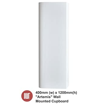 Artemis White Wall Mounted Cupboard - 400mm(w) x 1200mm(h) x 250mm (d)