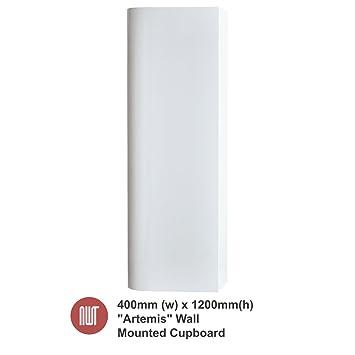 Artemis White Wall Mounted Cupboard - 400mm(w) x 1200mm(h) x 250mm (d)