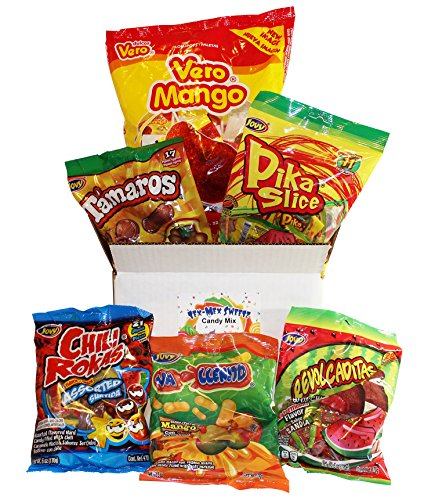 Mexican Candy Mix Box Includes Vero Mango Con Chile Lollipops And Jovy Assorted Mexican Candies