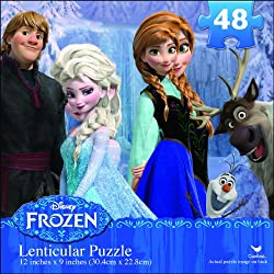 [Best price] Puzzles - Disney Frozen Lenticular Puzzle (48-Piece) - toys-games