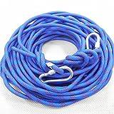 (モデルノ ラ テール) Moderno La Terre 選べる タイプ オリジナル クライミング ロープ カラビナ 二個 付き SN-TR (スカイ ブルー 18m)