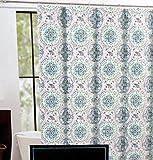 Cynthia Rowley Fabric Shower Curtain -- Happy Elephant Medallion