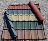 Plastic Roofing Tiles; diy, Ideal for Conservatories, Sheds, Log Cabins (Forest Green)