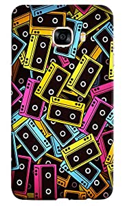 Omnam Colored Casettes Pattern Printed Designer Back Cover Case For Samsung Galaxy C7