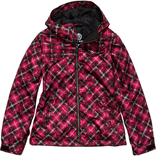 Betty Rides Women's Lucky Plaid Nicole Jacket, Red Plaid, Medium