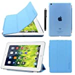 ProElite Ultra Thin Smart Flip Foldable Flip Case cover for Apple iPad Mini 1/2/3 Tablet with Stylus Pen