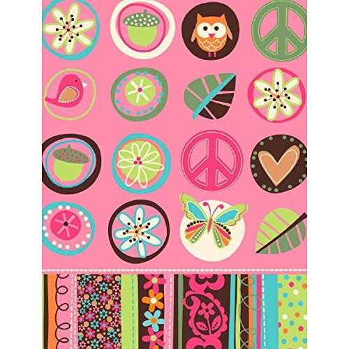 Amscan Hippie Chick Table Cover (1 Piece), Multi, 54 x 102""