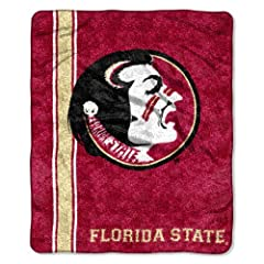 Buy NCAA Florida State Seminoles 50-Inch-by-60-Inch Sherpa on Sherpa Throw Blanket Jersey Design by Northwest