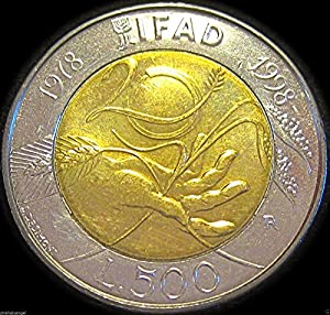 UNCIRCULATED 1998 Italy 500 Lire