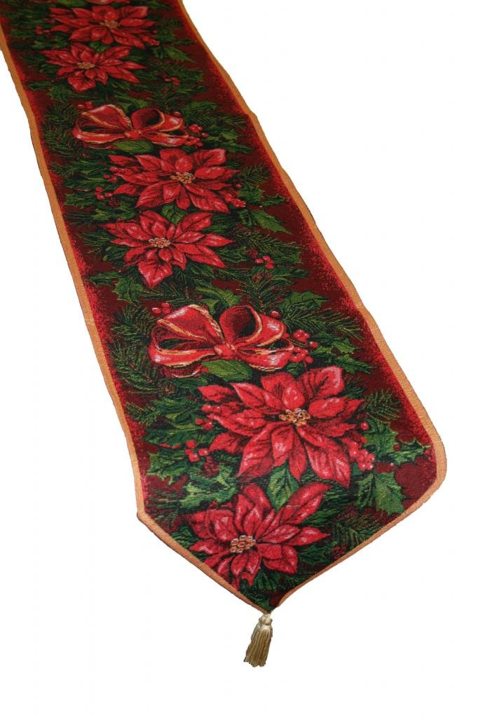 Poinsettia Table Runners Christmas Wikii