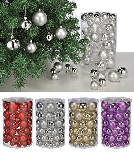 60-schne-Weihnachtsbaumkugeln-Silber