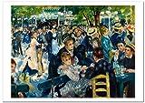 世界の名画・ルノワール ムーラン・ド・ラ・ギャレット ジークレー技法 B4高級ポスター