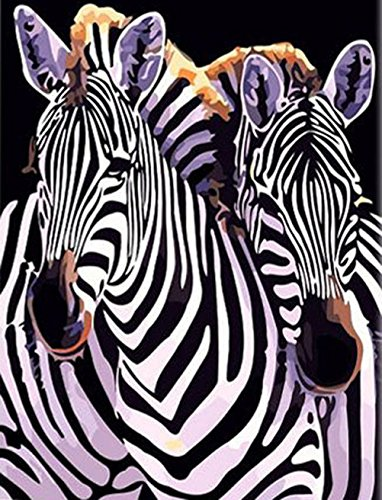 Greek Art Paintworks Paint Color By Number Kits,Zebra,16-Inch by 20-Inch