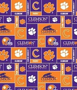 Amazon Com College Clemson University Tigers Print Fleece