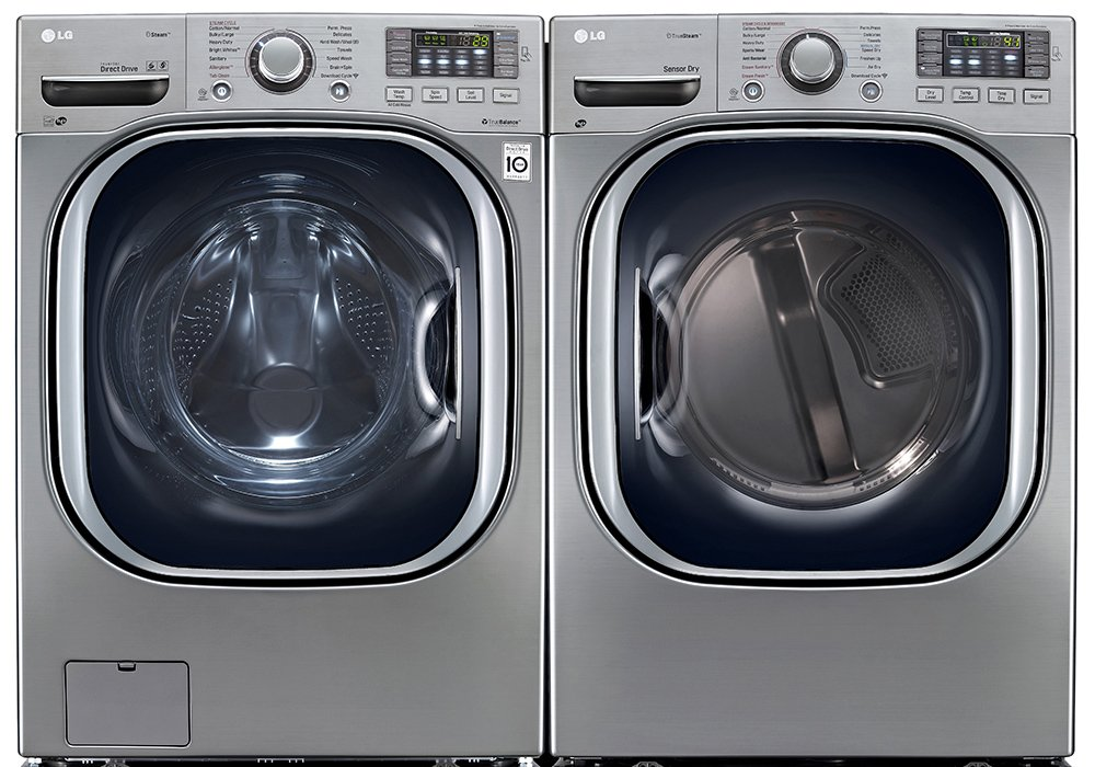 Power Pair Special-LG Turbo Series Ultra-Capacity Laundry System with Steam*GRAPHITE STEEL*(WM4270HVA_DLEX4270V)