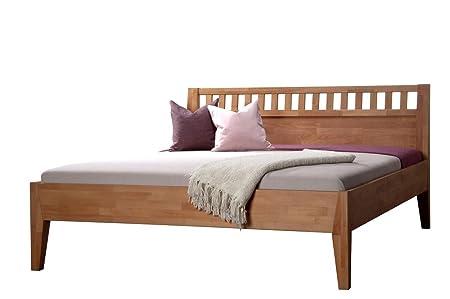 Massivholzbett DIONE in Komforthöhe, Größe:160 x 200 cm;Holzart:Buche natur geölt