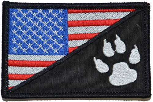 Sale!! USA Flag / Tracker Paw Scout Emblem 2.25x3.5 Military Patch / Morale Patch - Multiple Color O...