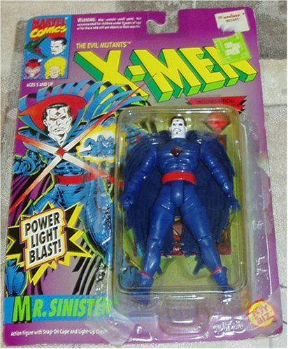 The Evil Mutants X-Men Mr. Sinister with Snap On Cape and Light Up Chest - Buy The Evil Mutants X-Men Mr. Sinister with Snap On Cape and Light Up Chest - Purchase The Evil Mutants X-Men Mr. Sinister with Snap On Cape and Light Up Chest (Toy Biz, Toys & Games,Categories,Action Figures,Collectibles)