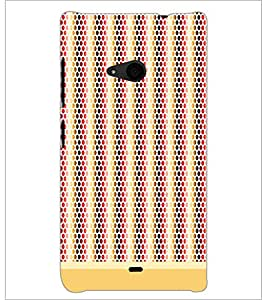 PrintDhaba Dot Pattern D-1474 Back Case Cover for MICROSOFT LUMIA 535 (Multi-Coloured)