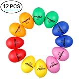 Plastic Egg Shakers, Ehome 12 Pcs Percussion Musical Egg Maracas Easter Egg Kids Toys with Assorted Colors. (Color: Assorted Colors, Tamaño: Small)