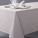 La Redoute Interieurs Garden Party Gingham Check Tablecloth In Yarn-Dyed Cotton Brown Size 300