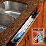 "19"" Stainless Steel Tip-Out Tray, With Hinges"
