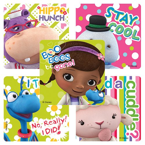 Disney Doc McStuffin Stickers - Party Favors - 75 per Pack