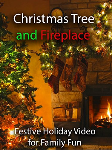 Christmas Tree and Fireplace Festive Holiday Video for Family Fun